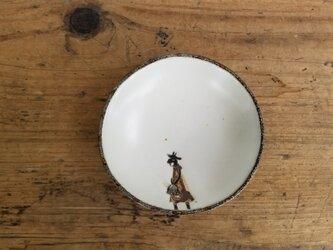 小皿no.59 ヤギ(草のお買い物)の画像