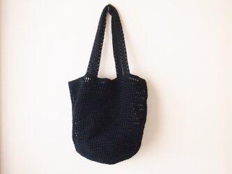 クロッシェトートバッグ(黒)の画像