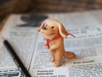 【陶器の笑う犬】*茶(大)の画像