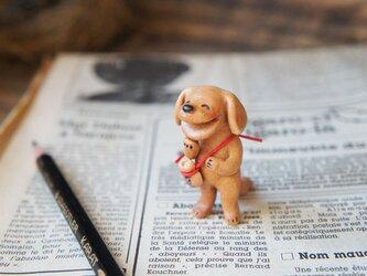 【陶器の笑う犬】*茶(小)の画像