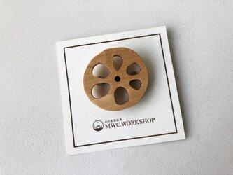 レンコンのブローチの画像