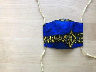 e111-アフリカ布マスクの画像