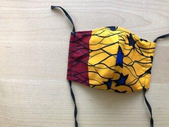 e113-アフリカ布マスクの画像
