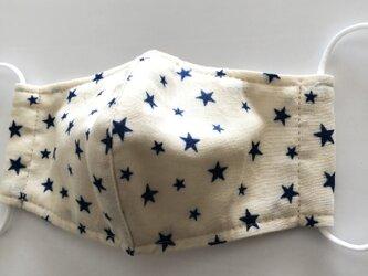 星柄ガーゼ 立体マスク ジュニア用の画像