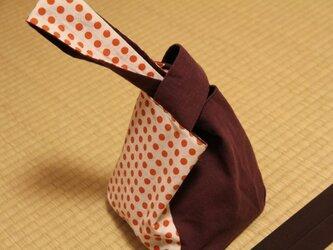 豆絞り 手提げ袋の画像