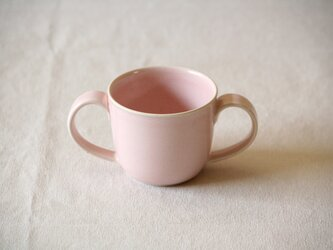 こども両手マグ 桜色の画像