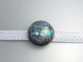 螺鈿帯留「紫陽花」の画像