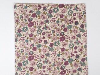 □  花柄のガーゼハンカチ  約25cm角  パープルの画像
