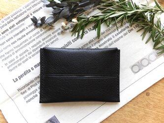 イタリア革のポケットティッシュケース/黒の画像