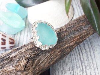 【14号】silver925  seaglass ringの画像