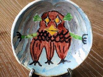 コロナ パクパク アマビエ小皿 スタンド付きの画像