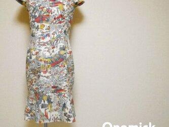 着物マーメイドワンピース Kimono Mermaid dress LO-221/Mの画像