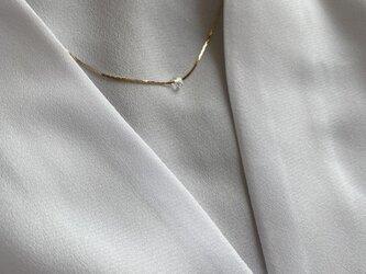 スウェッジチェーンNYハーキマースルーネックレスの画像