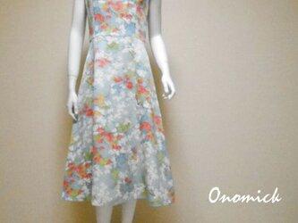 ラウンドネック着物ドレス Round neck Kimono dress LO-226/Sの画像