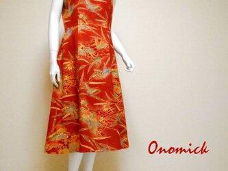 ラウンドネック着物ドレス Round neck Kimono dress LO-228/Mの画像