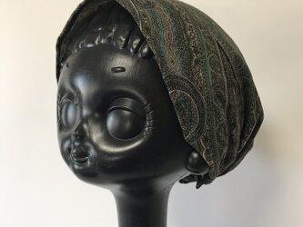 ターバン風帽子 Sサイズ(ペイズリー柄)の画像