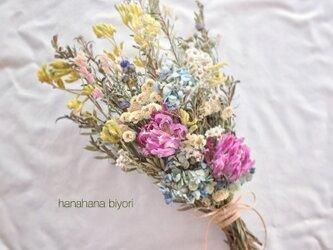 チューリップと小花のブーケ・スワッグ 母の日にも☆ ※ラッピングは別途ご購入お願いしますの画像