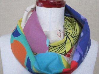 着物リメイク 5種類のモダンでポップな浴衣のパッチワークスヌードの画像