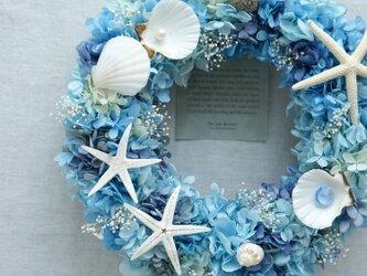 Little Mermaid Wreath 3~人魚の涙~ 25cm(プリザ)の画像