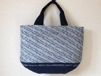 裂き織り 夏色バッグ (マリンテイスト)の画像