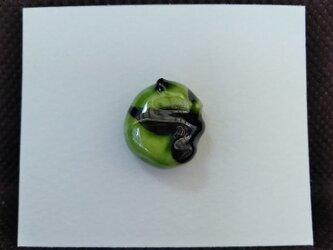 動物石 ピンズ パンダ(緑色)の画像