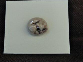 動物石 ピンズ ネコ(白色)の画像