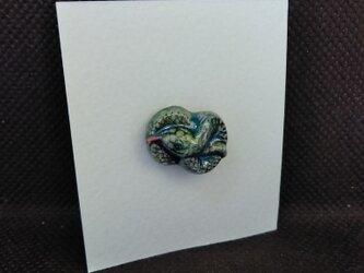 動物石 ピンズ ヘビ(緑色)の画像