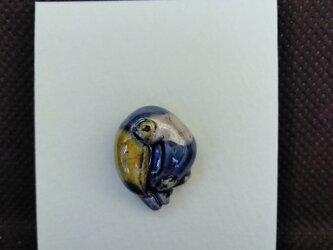 動物石 ピンズ オオハシ(青色)の画像