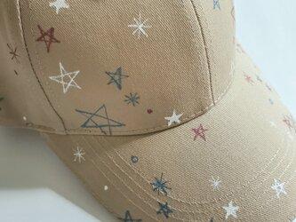 キラキラ星アウトドアキャップ 「星いっぱい」の画像