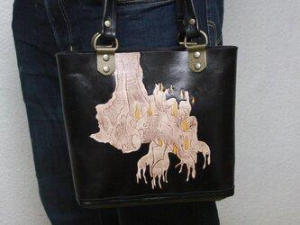 ミニトート 浮世絵『狐火』の画像