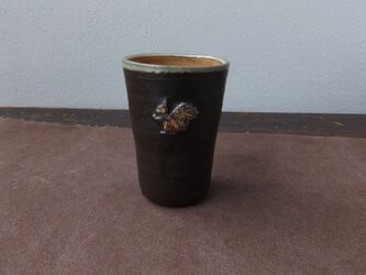 りすフリーカップ(黒)の画像
