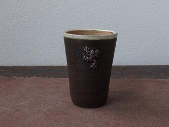かえるフリーカップ(黒)の画像