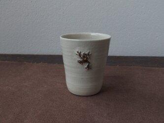 かえるフリーカップ(白)の画像