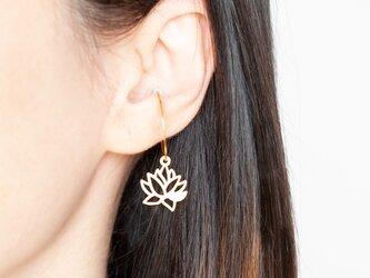 Lotus ear cuff / 2colorsの画像