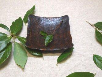 風化木:欅古び正方皿の画像