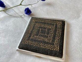 コンパクトミラー ブロックチョコレートの画像