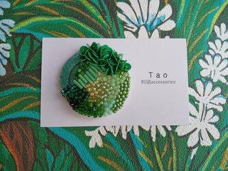 刺繍ブローチ Circle Botanicalの画像