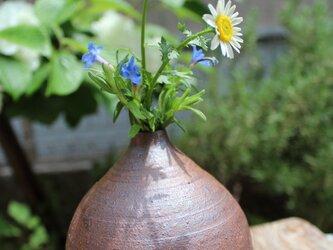 花瓶(中)こげ茶の画像