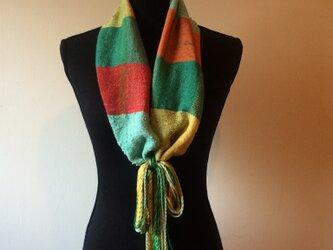 手織りストール 春秋冬用の画像
