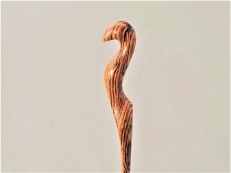 木製 ホルスのかんざし BT/ボコテの画像