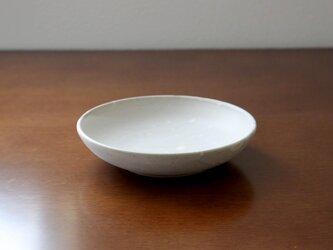 赤土と白マット釉のお皿 * 1の画像