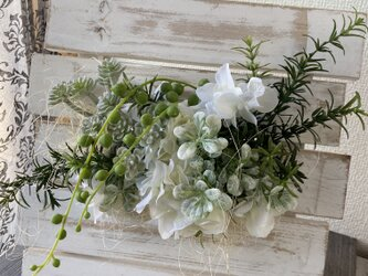 ローズマリーとナチュラルなインテリア・フレーム【造花】母の日にの画像