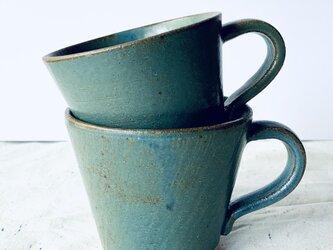 青釉マグカップの画像