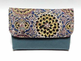 和更紗の数寄屋袋(青)の画像