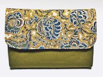 和更紗の数寄屋袋(黄)の画像