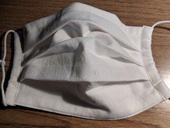 夏用!綿生地でプリーツマスク男女兼用、フィルターポケット付きの画像