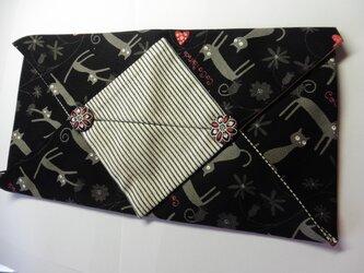 廃盤ブラック  黒猫 ★ティッシュボックスカバーの画像