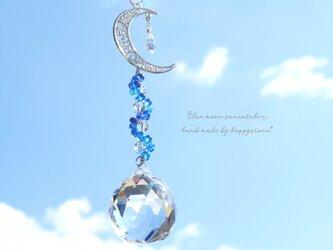 幻想的な青の雫*月と星のサンキャッチャーの画像