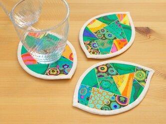 はっぱのコースター(3枚組) ~水鏡~の画像