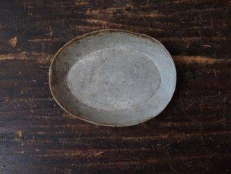 ゆるり楕円鉢(グレー)の画像